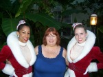 Two Rockettes and Mary Damiano