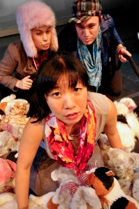 Jessica Farr, Noah Levine and Kristina Wong in Cat Lady
