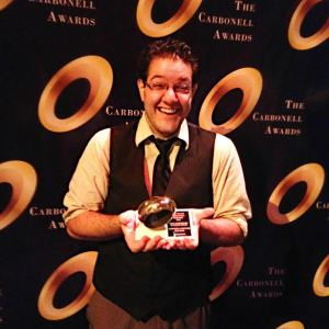 Best Supporting Actor in a Play winner Mark Della Ventura