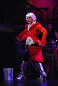 Bruno Vida as Angel in Slow Burn Theatre Company's production of Rent
