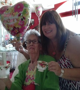 Me and Mom at Oscar's Tea Room and Gift Shop on Mother's Day